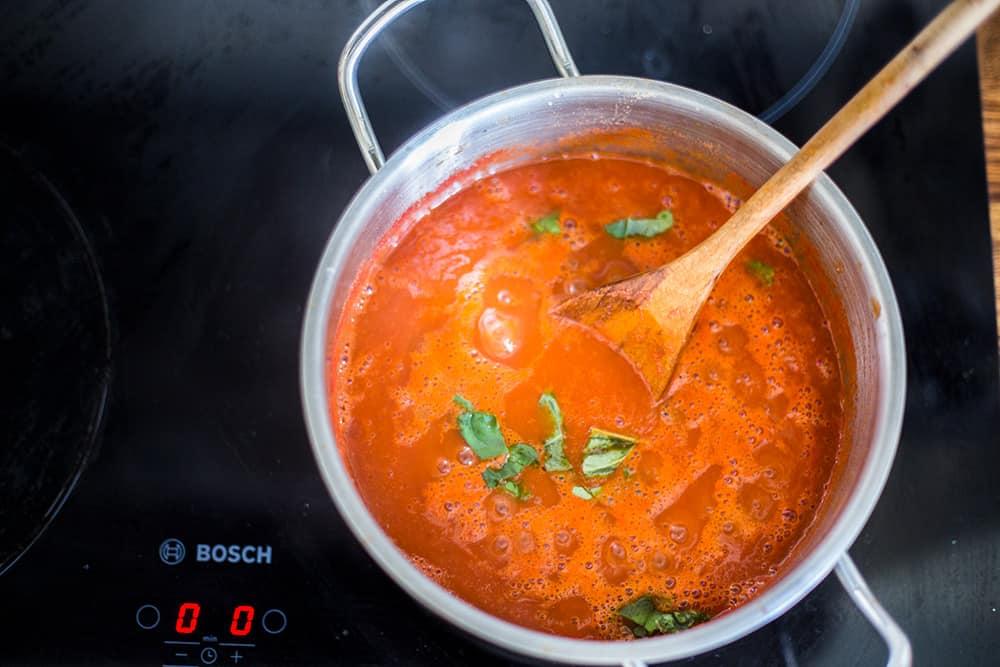 salsa para Parmigiana de berenjenas