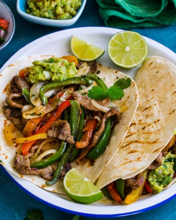 Beef Fajitas on a plate