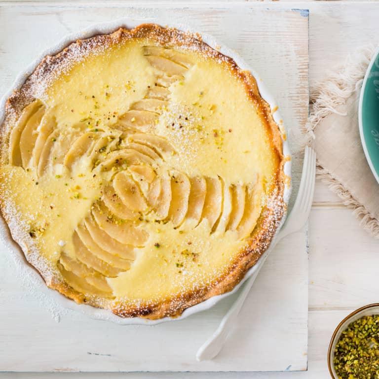 Sweet Ricotta and Pear Crostata