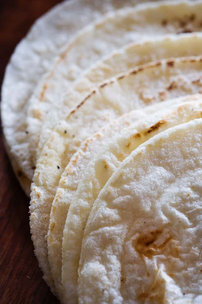 Tortillas made with masa harina.