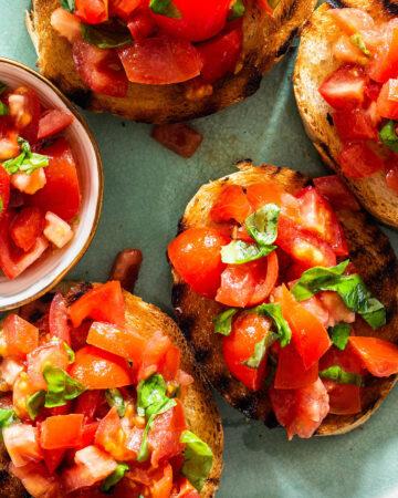 Bruschetta al pomodoro recipe.
