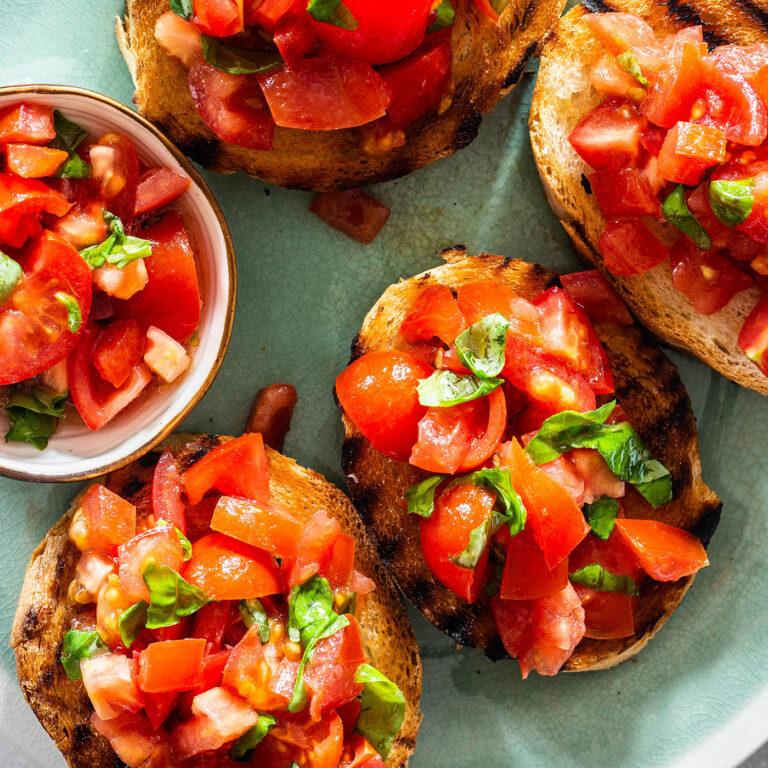Bruschetta de tomate: Un clásico Italiano