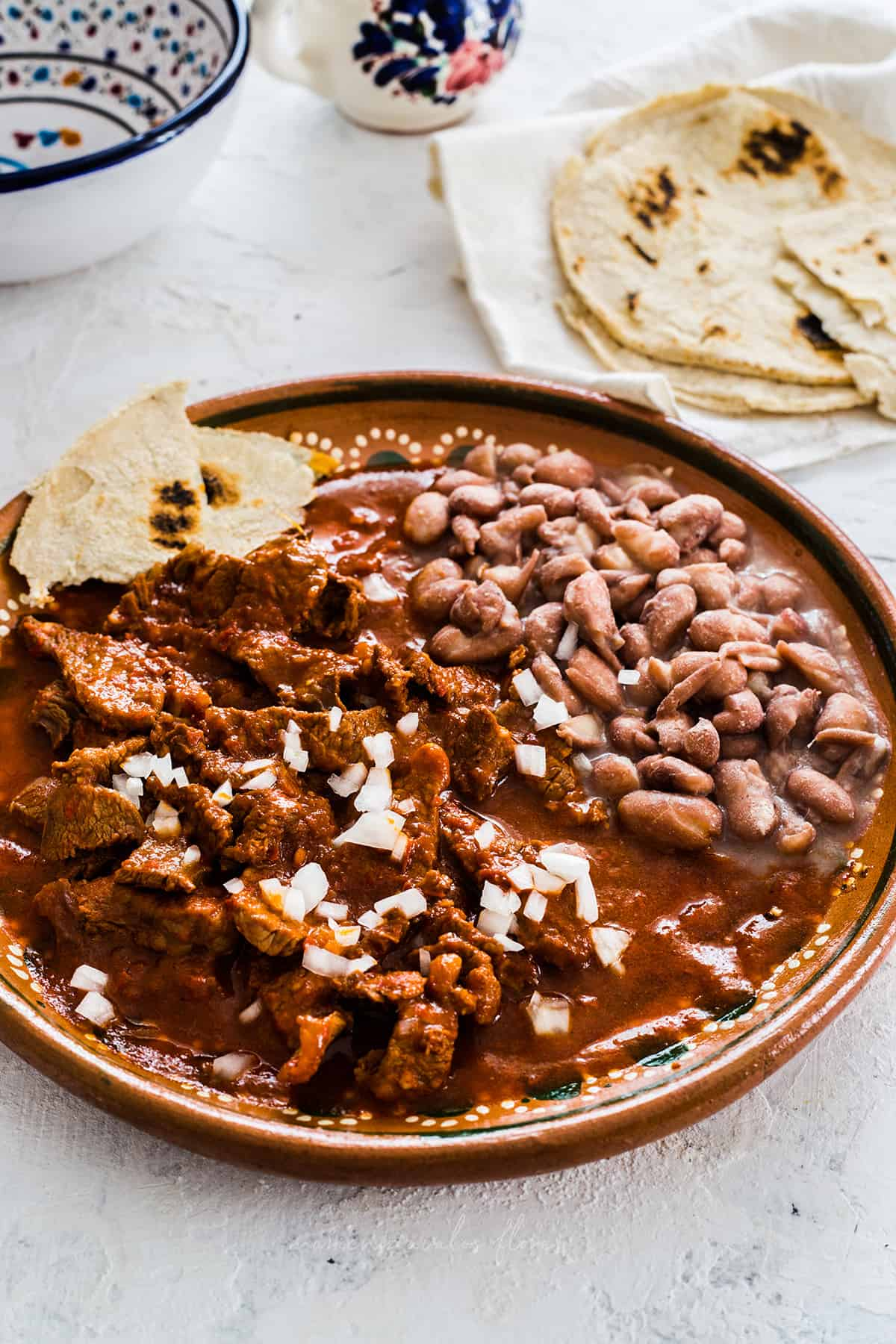 carne con Chile rojo (Mexican beef stew)