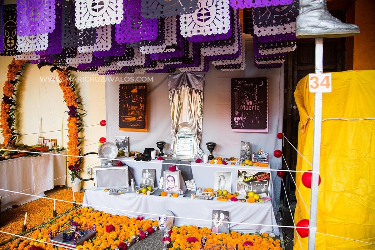 A ofrenda for Dia de Muertos.