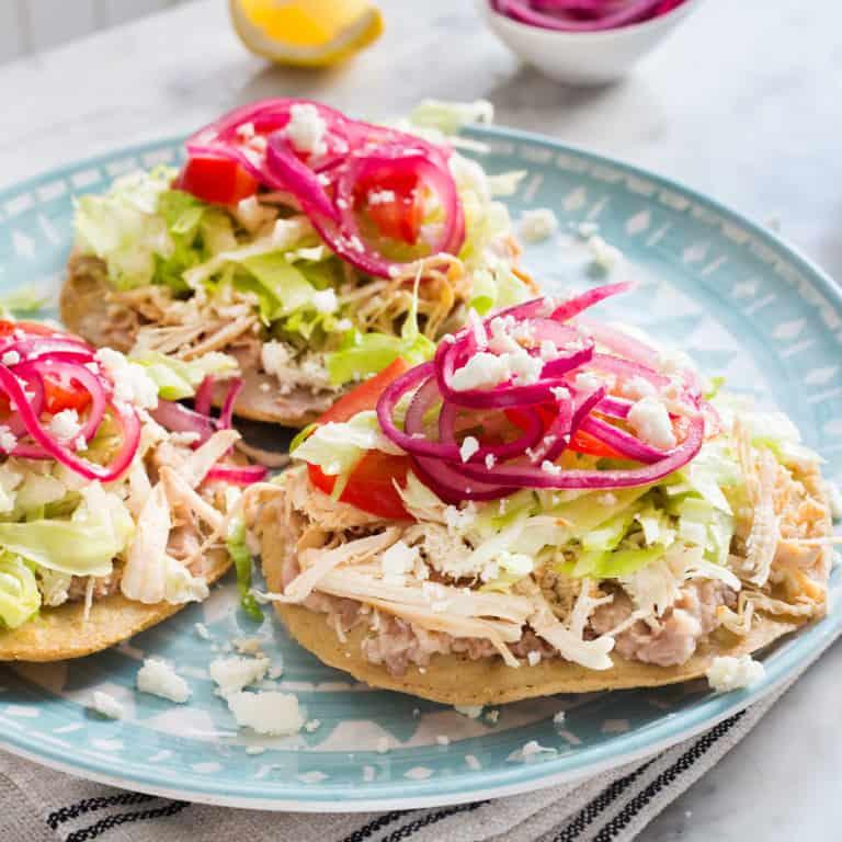 Chicken tostadas – Crunchy and delicious