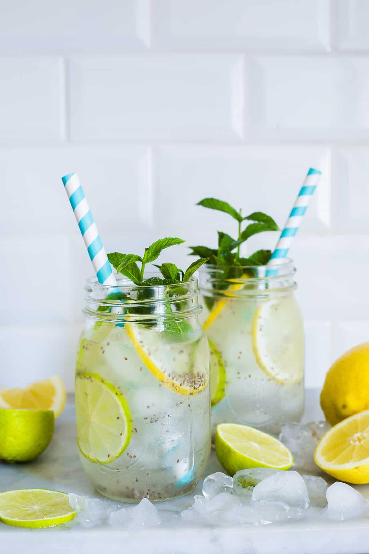 chia drink with lemon (agua fresca)
