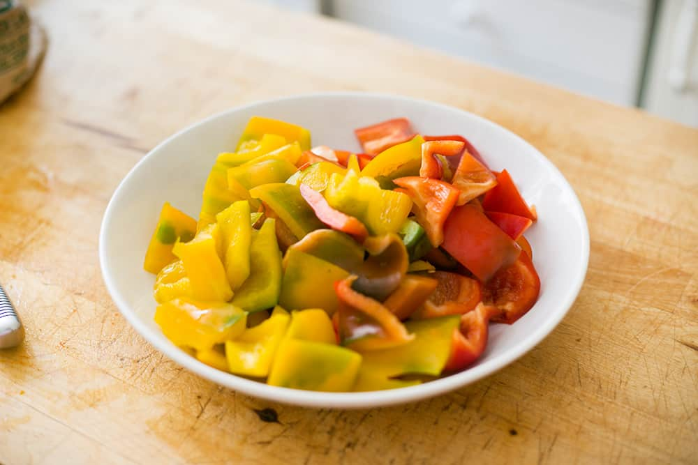 Italian peppers on a plate.