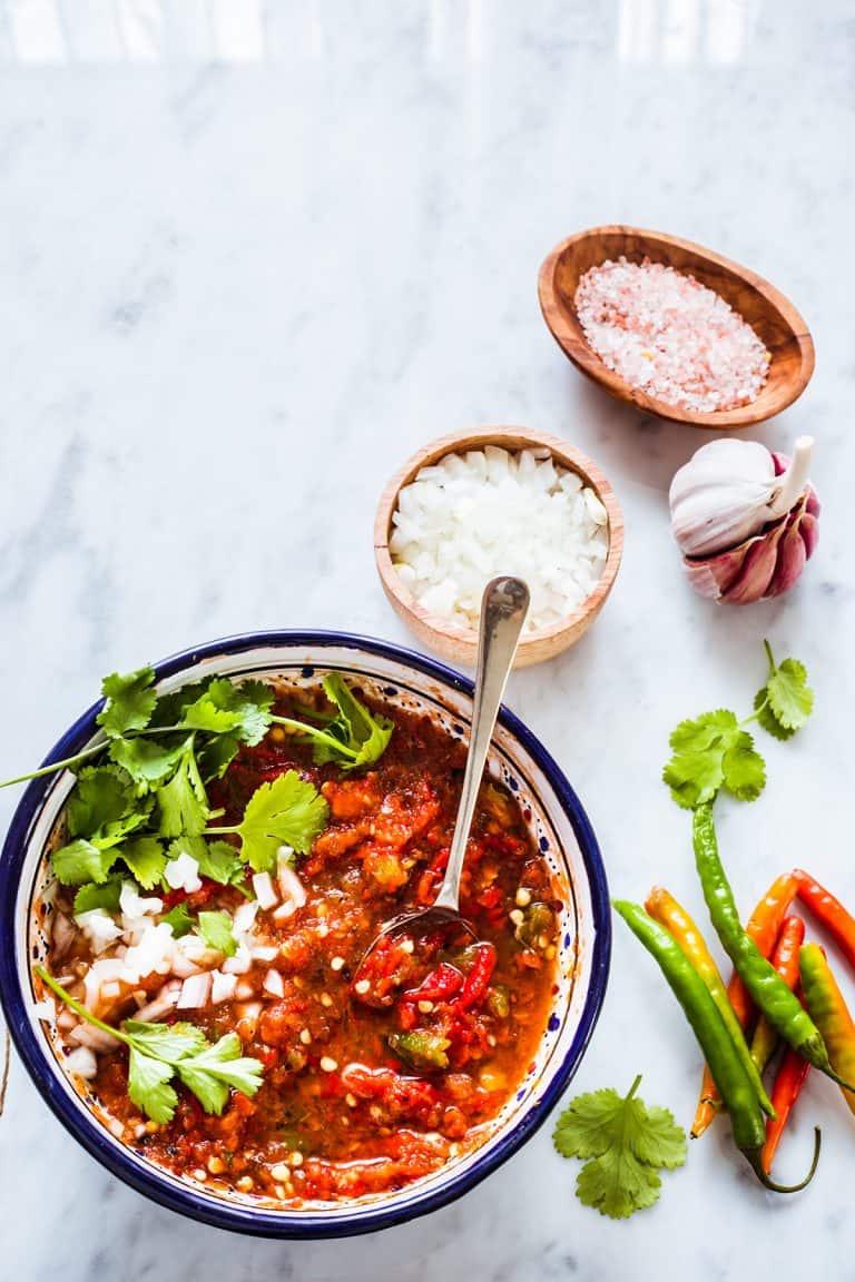 Salsa de molcajete. Una infaltable en las mesas mexicanas