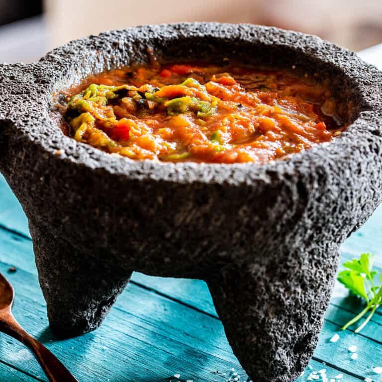 Molcajete salsa (mexican roasted tomato salsa)