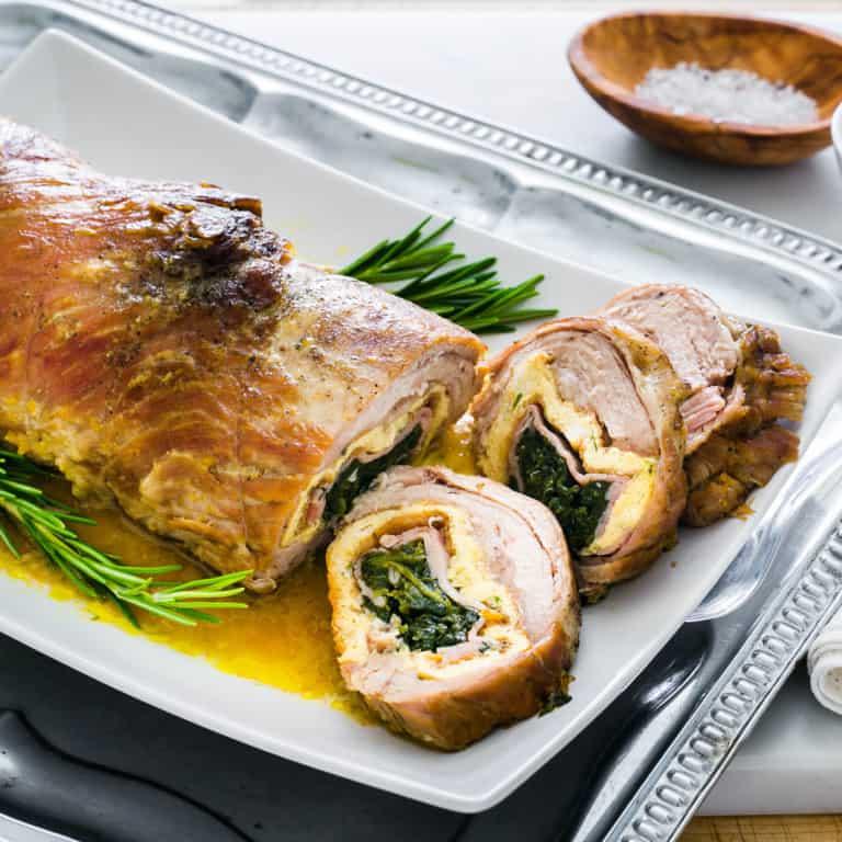 Rollo de ternera relleno de espinacas y jamón | SIN HORNO
