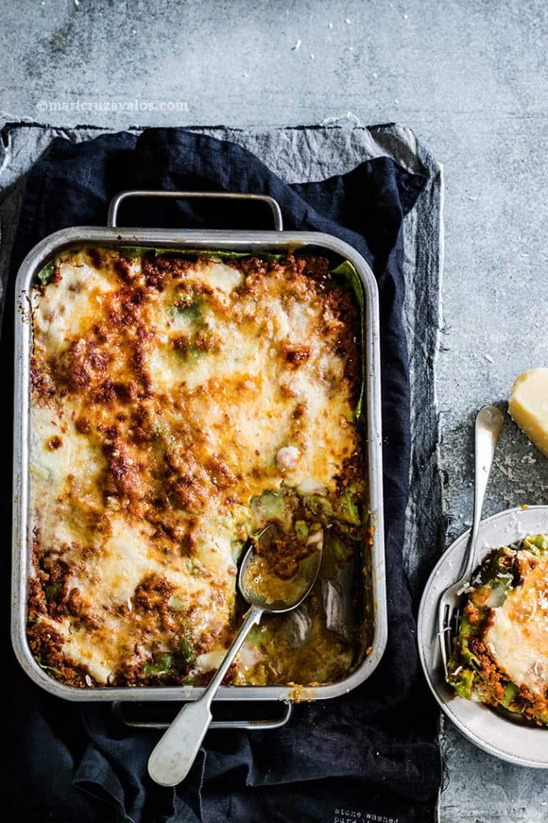 Bolognese Lasagna. The authentic recipe