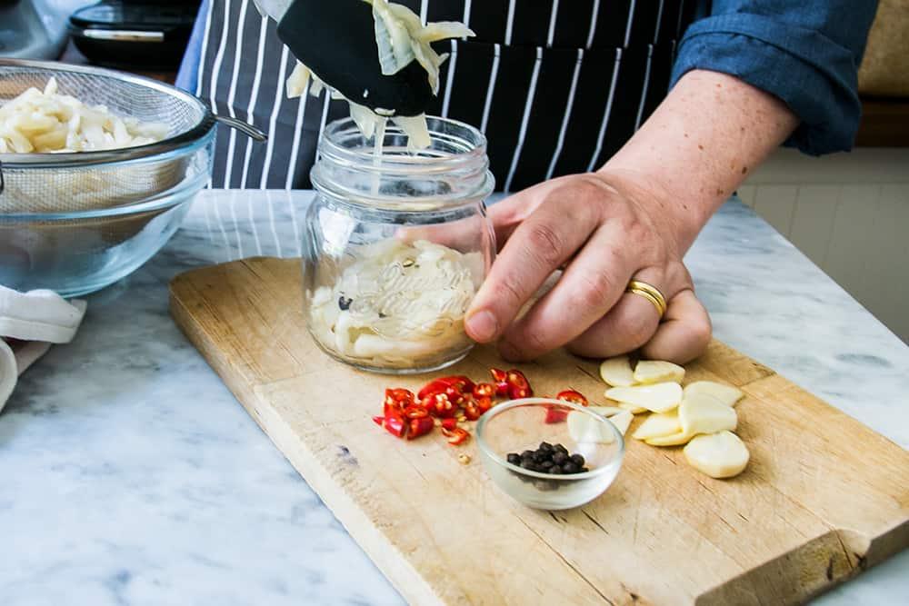 italian pickled eggplant (in jars)