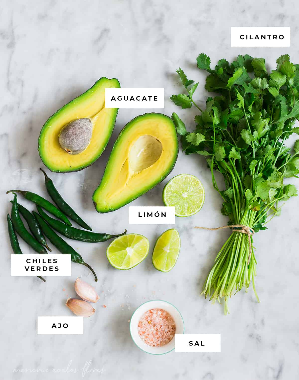 Avocado sauce ingredients