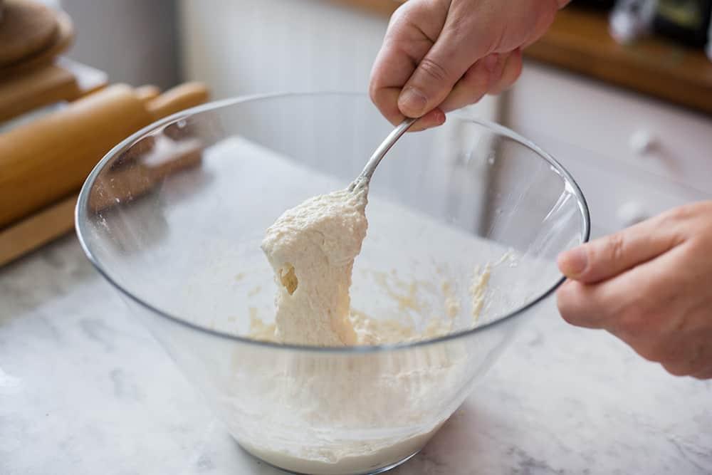 masa para hacer una hogaza de pan fácil