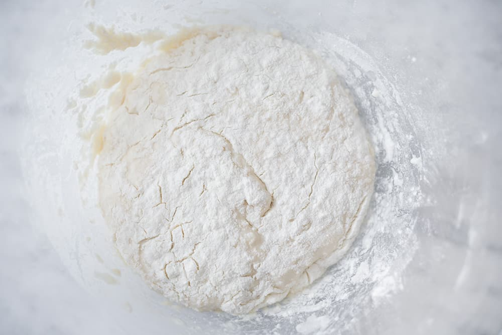 masa fermentando en un cuenco