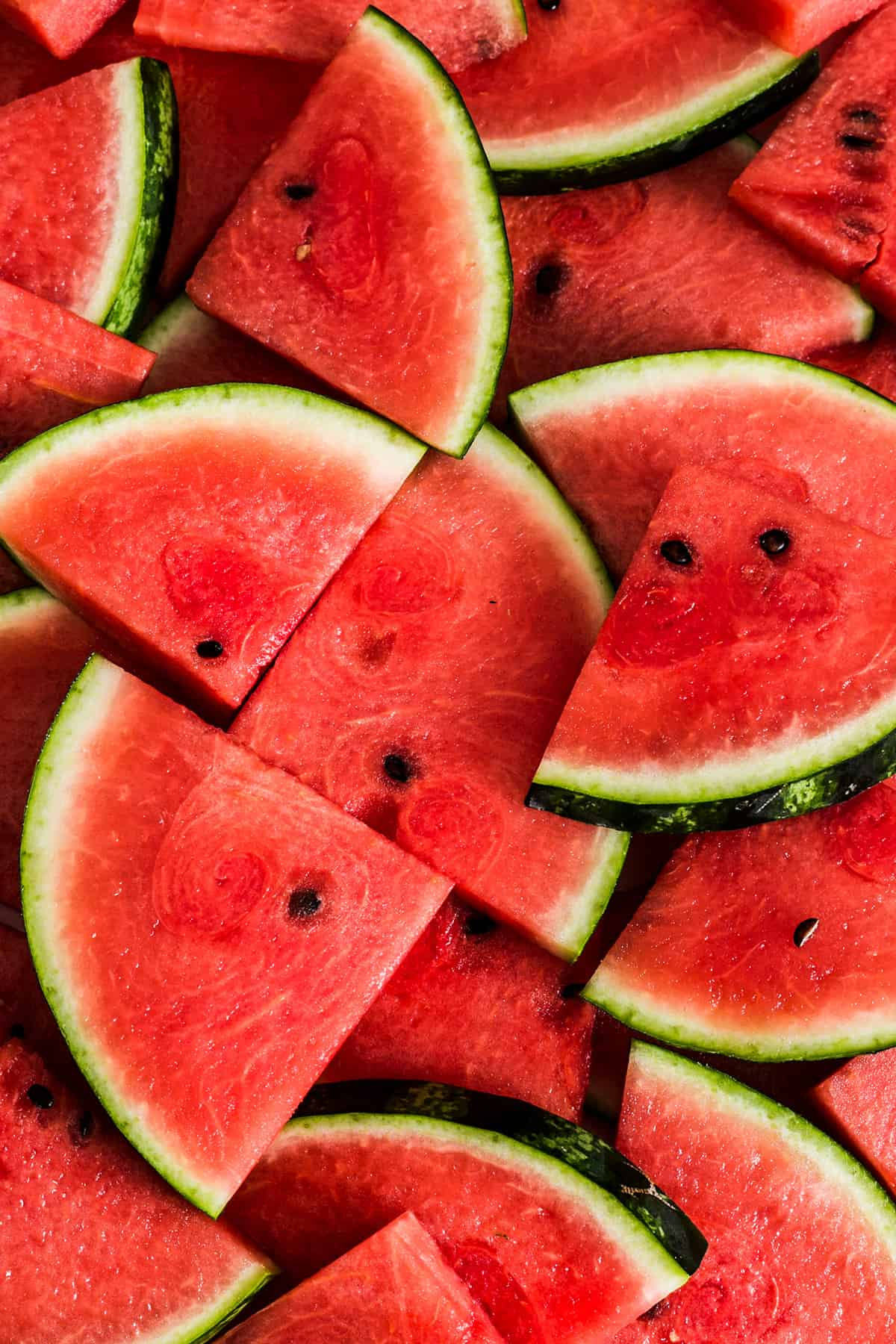 watermelon wedges close up