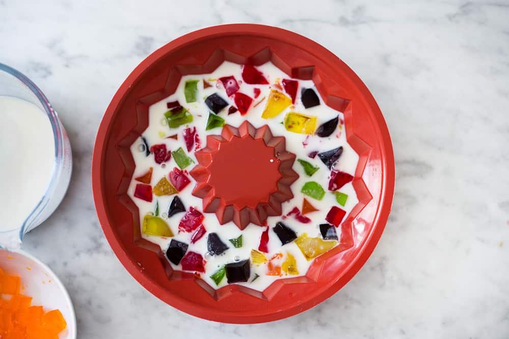 Mexican jello on a bundt cake mold.