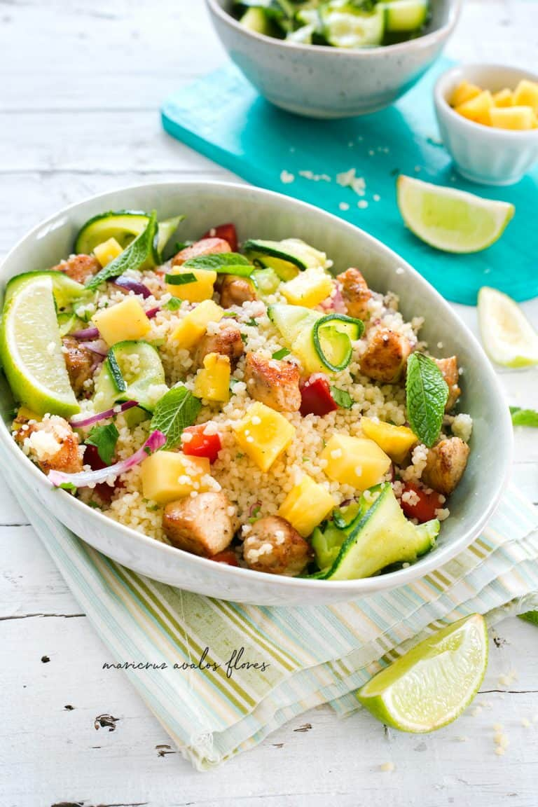 Chicken pineapple salad with cous cous