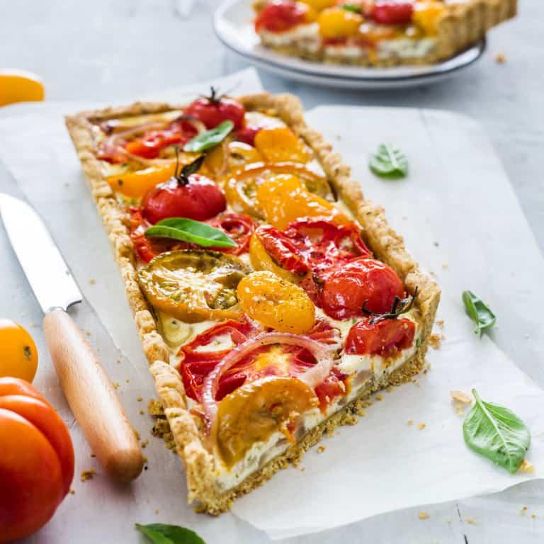 Italian tomato pie (crostata di pomodori)