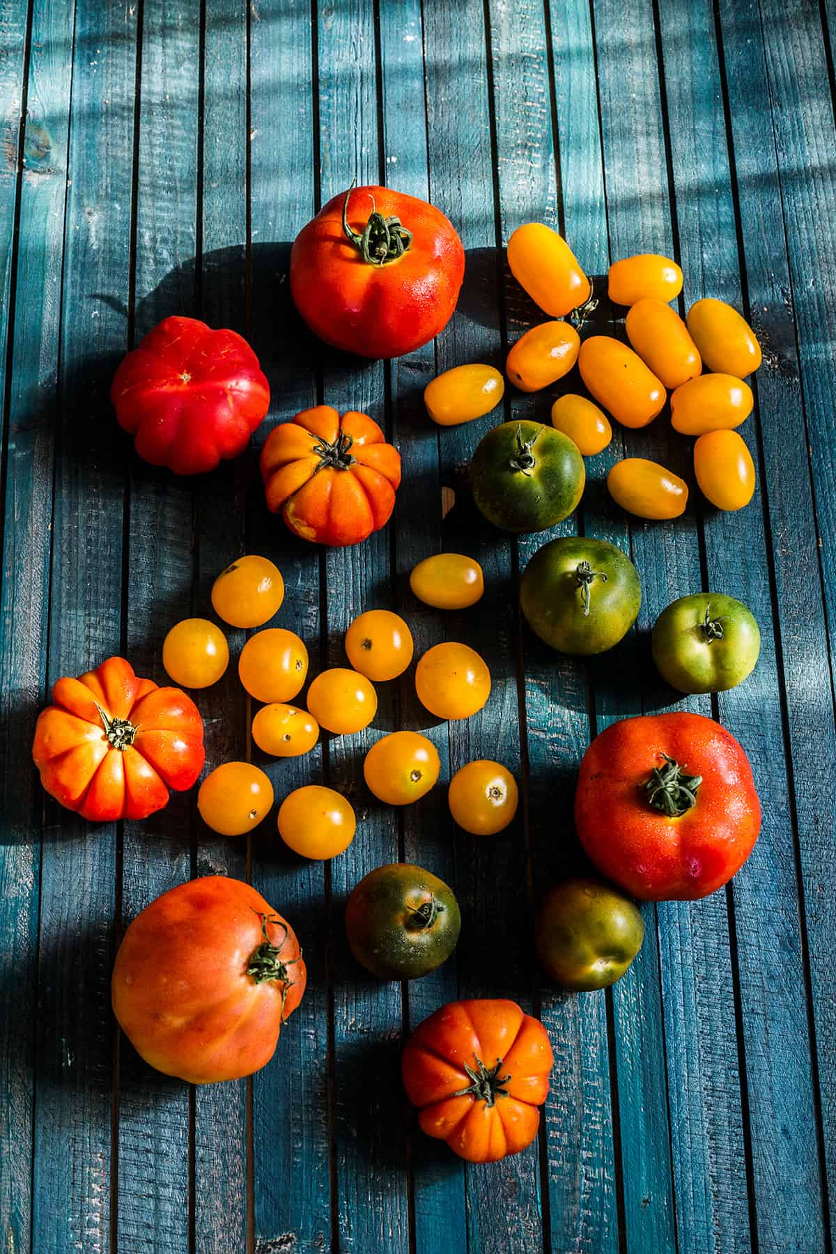 Late-summer heirloom tomatoes