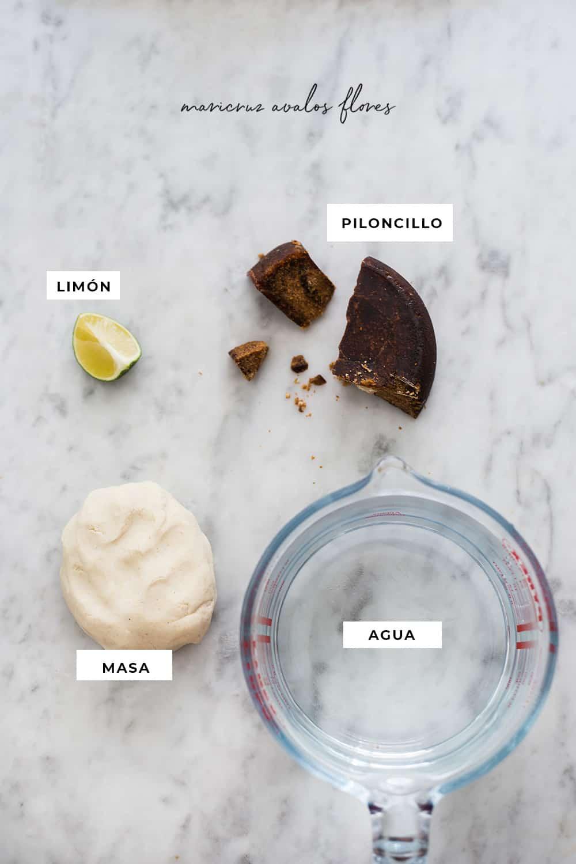 ingredientes para tejuino