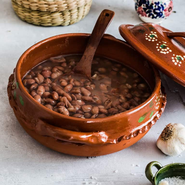 De la olla beans. Easy recipe