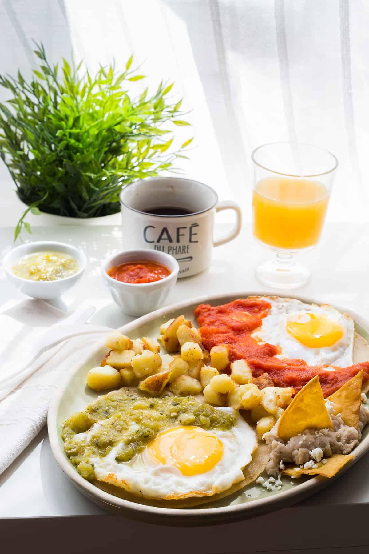 huevos divorciados por la mañana