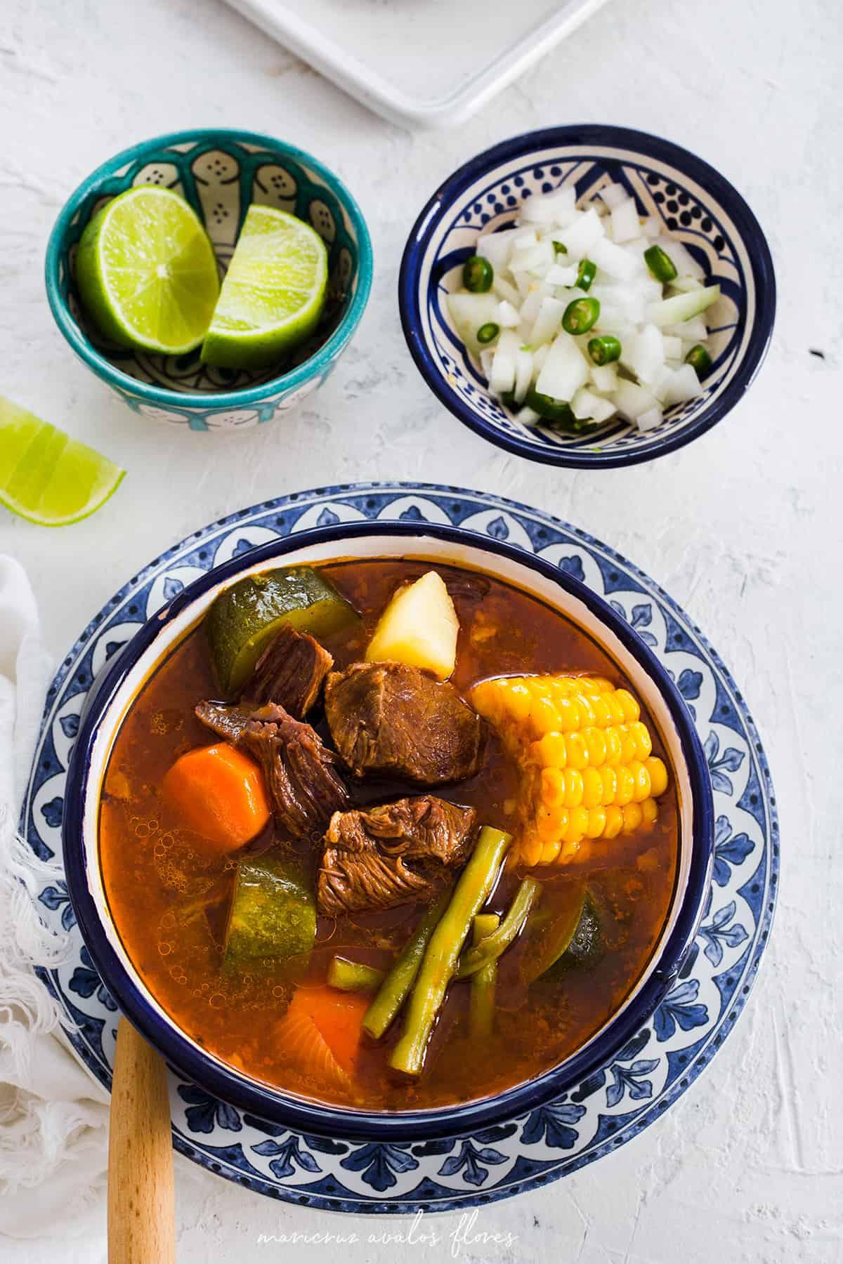 Mole de Olla Receta Traditional Mexicana