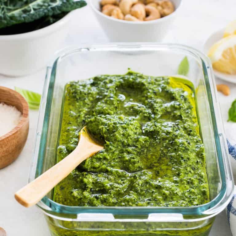 Kale Cashew Pesto. Ready in 10 minutes!