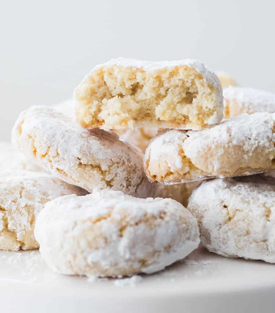 Italian cookies close up.