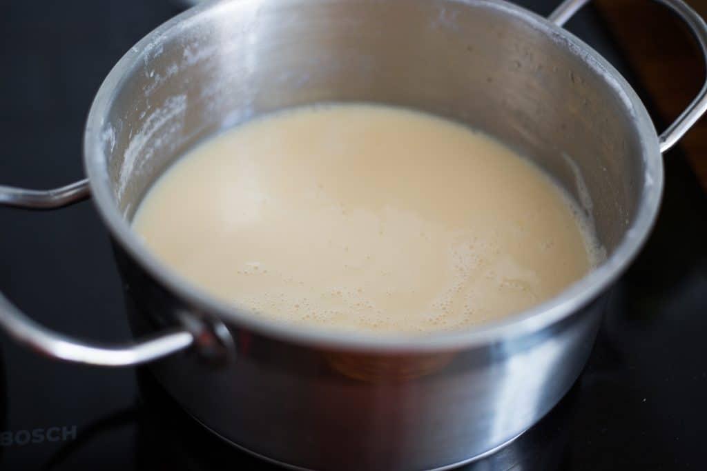 Homemade condensed milk ready.
