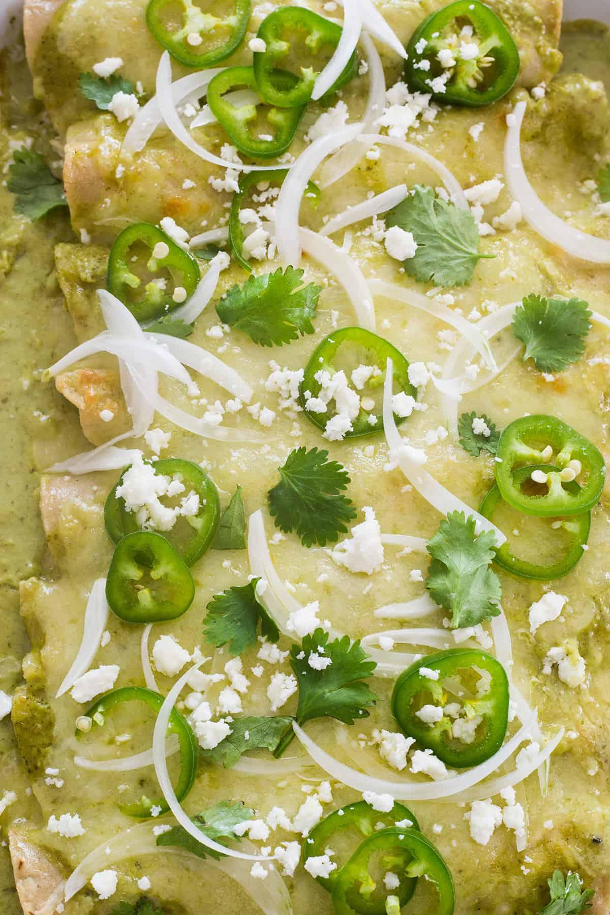 salsa verde e formaggio fuso