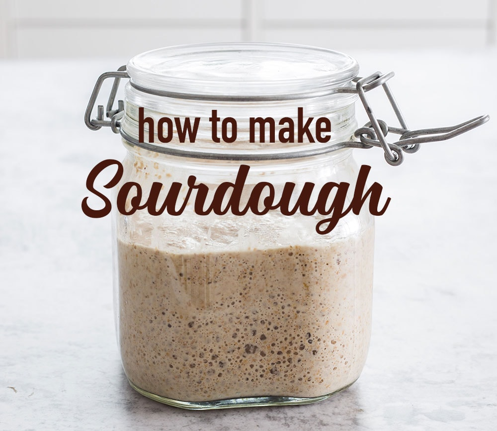 A banner with a sourdough jar and text overlay that says