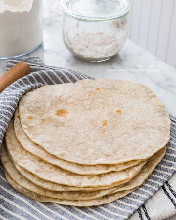 tortillas de harina con masa madre. Suaves y esponjosas