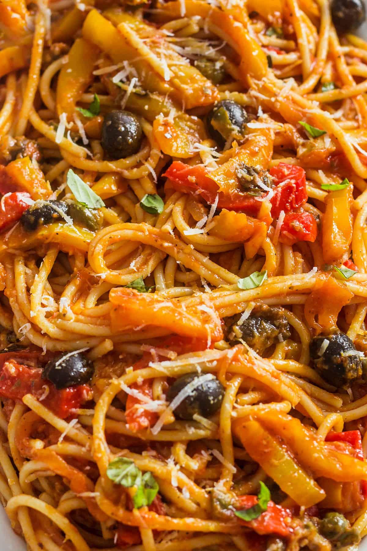 pasta con peperonata