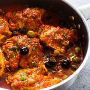 Italian chicken puttanesca