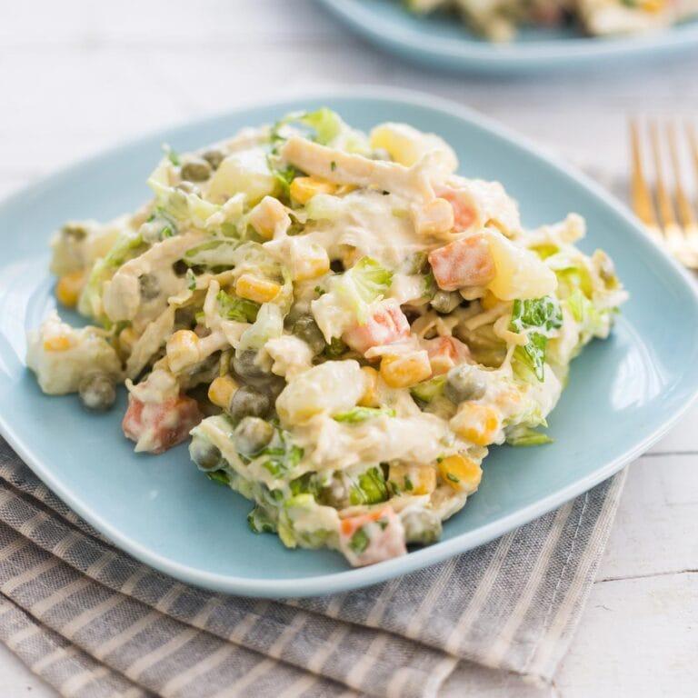 Ensalada de Pollo (Mexican chicken potato salad)