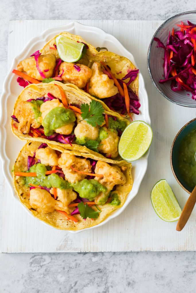 tacos de coliflor