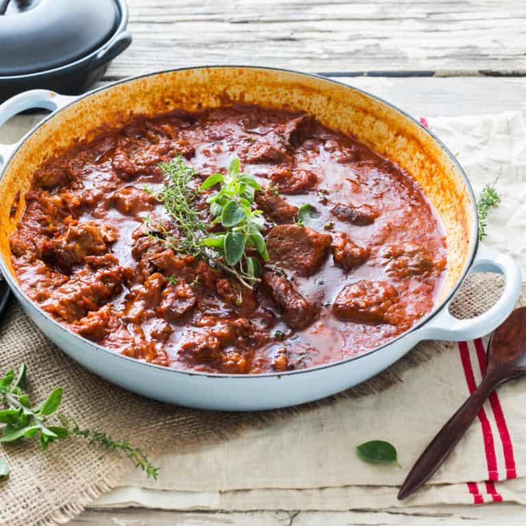Stracotto. Roman-Jewish Traditional Dish.