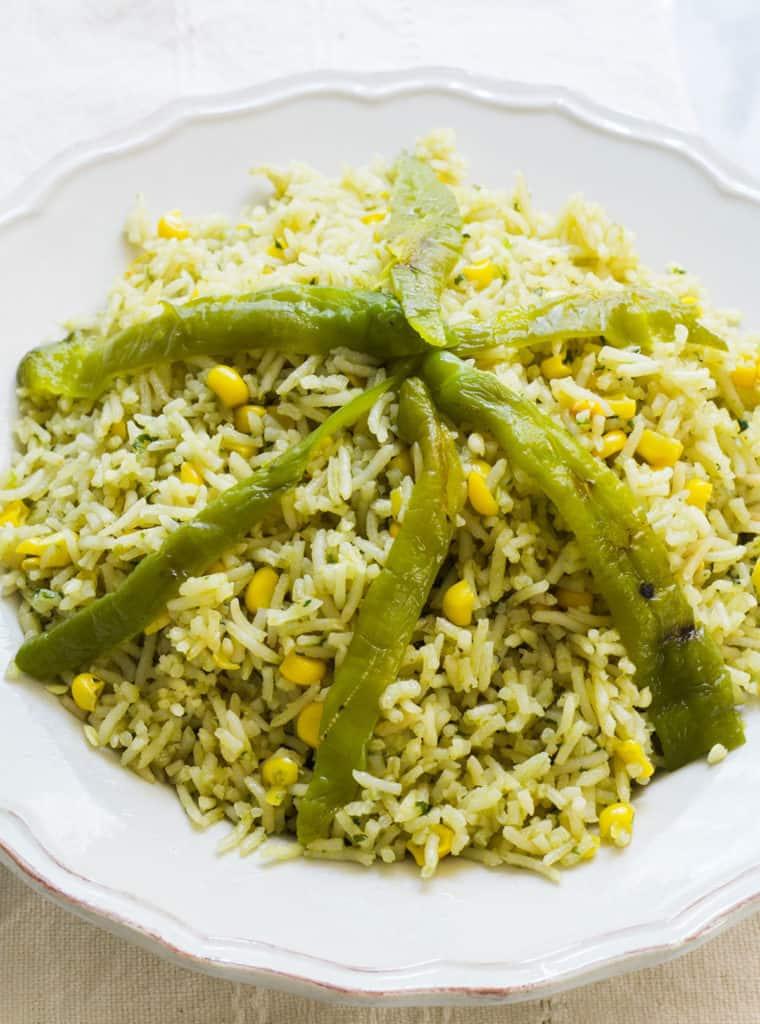 arroz verde mexicano