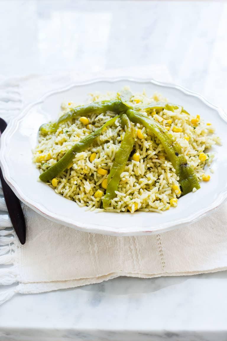 Mexican Green Rice (Arroz Verde)