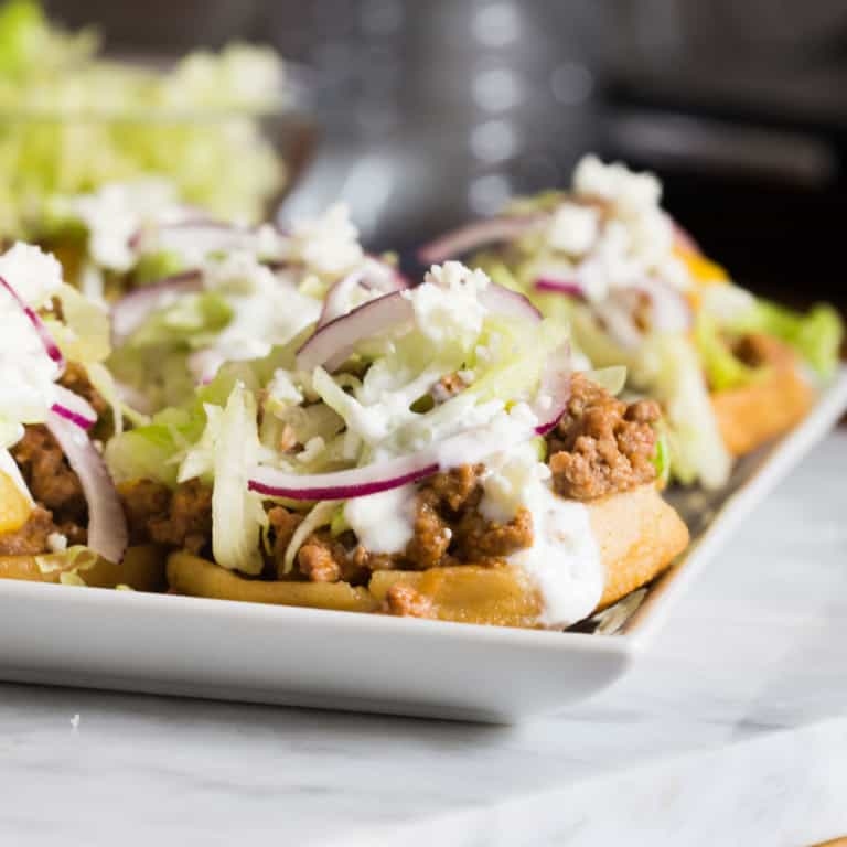 Sopes with picadillo meat