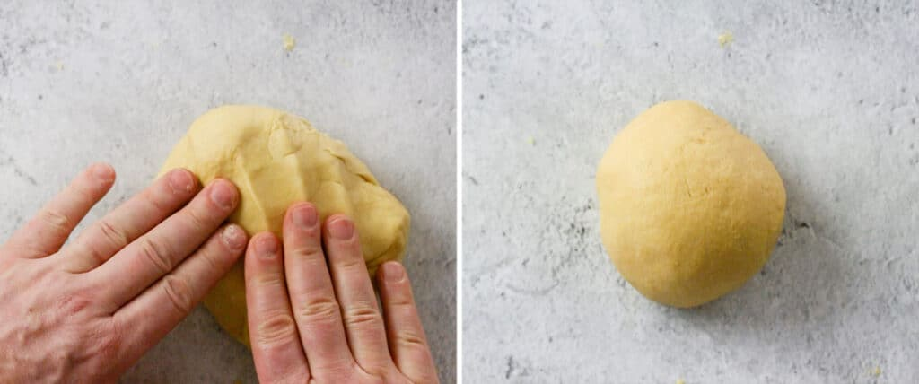 The dough already smooth and soft.