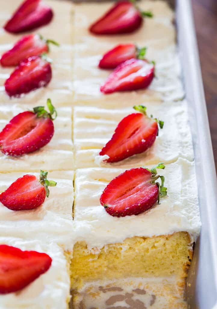 Tres Leches Cake Cut.