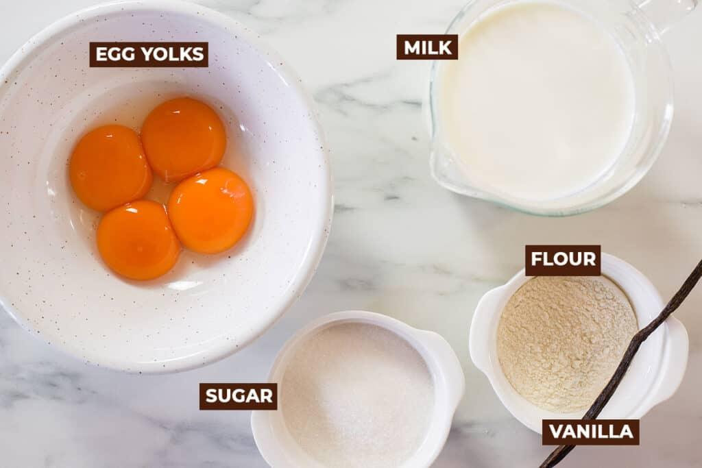 Ingredients for Italian Pastry Cream