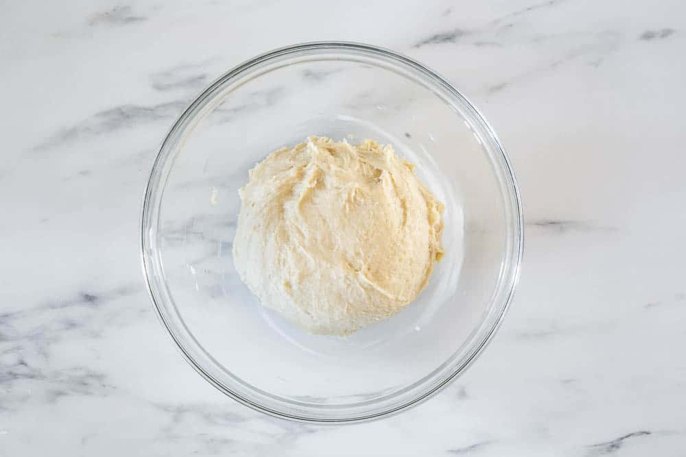 Dough on a bowl.