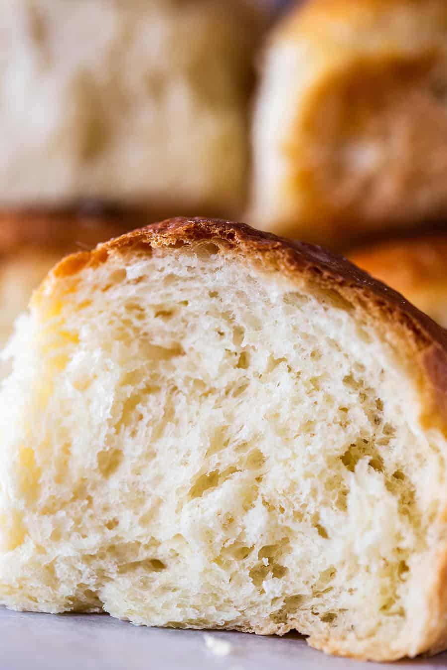 Milk bread rolls texture.