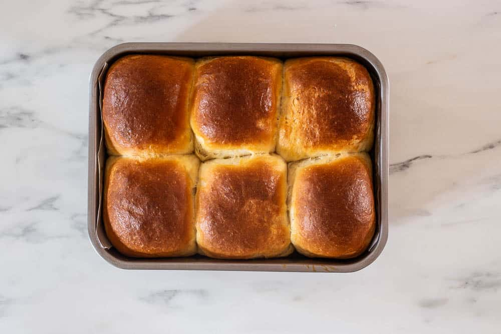 Rolls just take out from oven.