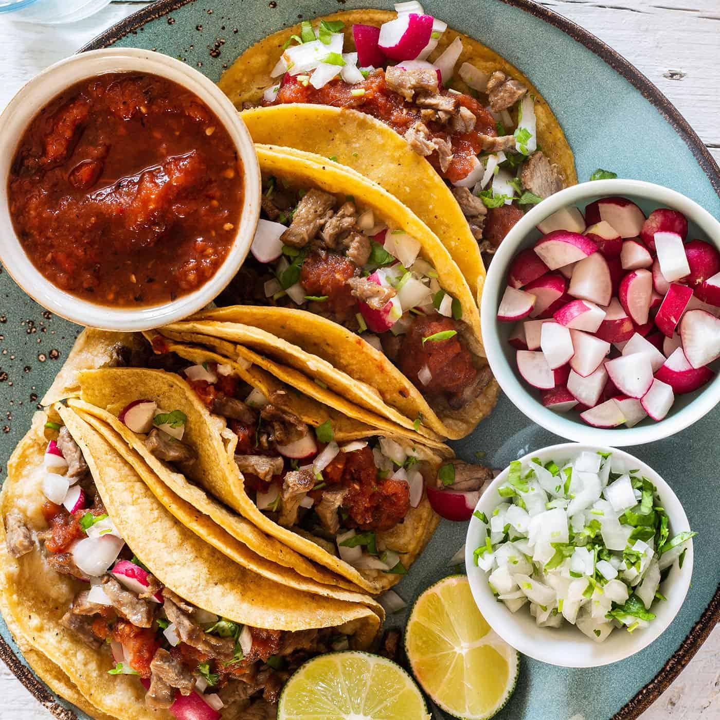 Leftover steak tacos