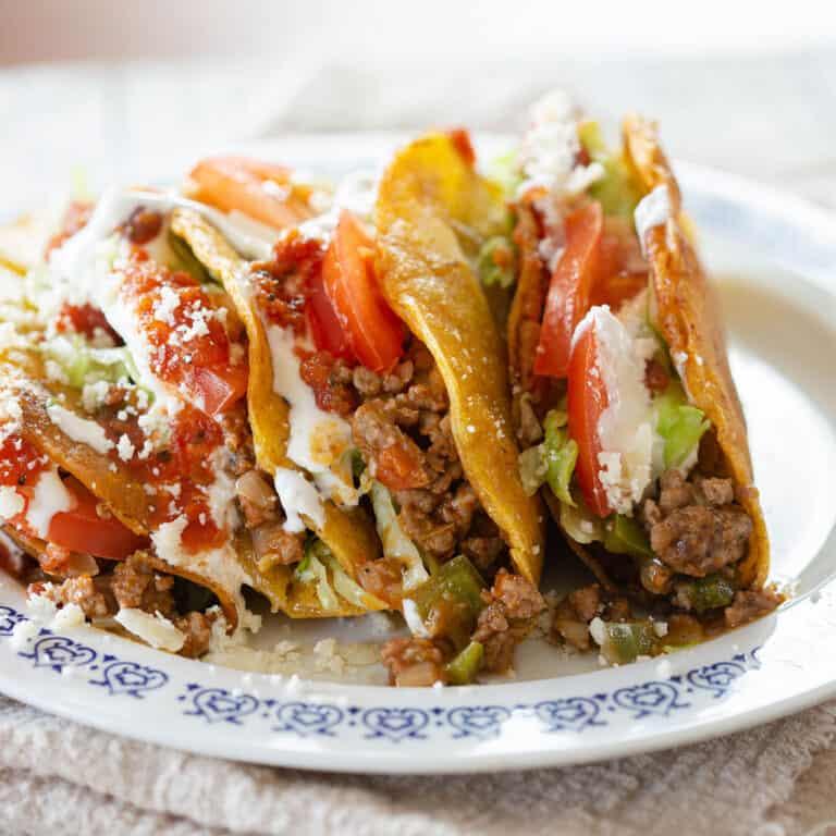 Picadillo Tacos: Crispy Beef Tacos